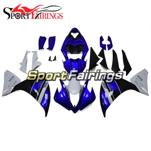 Fairing Kit Fit For Yamaha YZF R1 2012 - 2014 -White Blue