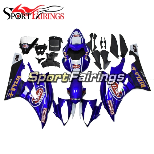 Fairing Kit Fit For Yamaha YZF R6 2006 2007 - White Blue