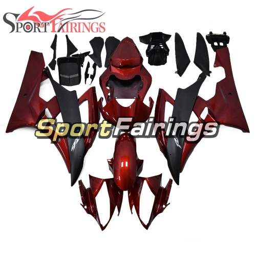Fairing Kit Fit For Yamaha YZF R6 2006 2007 - Deep Red Black