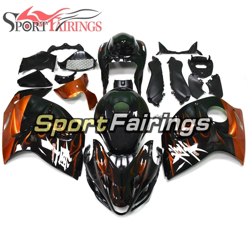 Fairing Kit Fit For Suzuki GSXR1300 Hayabusa 2008 - 2016 -Gloss Black Orange