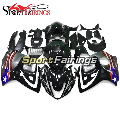 Fairing Kit Fit For Suzuki GSXR1300 Hayabusa 2008 - 2016 - Metallic Black Silver
