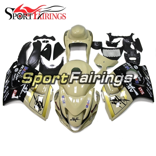 Fairing Kit Fit For Suzuki GSXR1300 Hayabusa 2008 - 2016 -Light Yellow Black