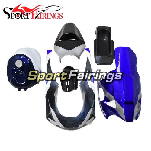 Fiberglass Racing Fairing Kit Fit For Suzuki GSXR1000 K1/K2 2000 - 2002 - Blue Black White