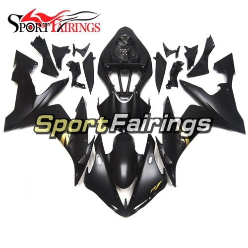 Fairing Kit Fit For Yamaha YZF R1 2004 - 2006 - Matte Black with Gold Decals