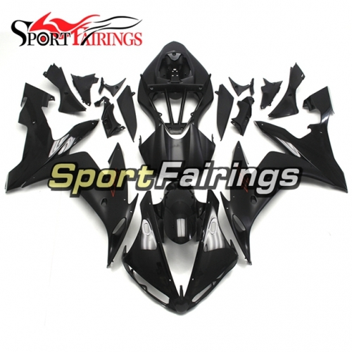 Fairing Kit Fit For Yamaha YZF R1 2004 - 2006 - Shinny Black Flat Black with Red Decals