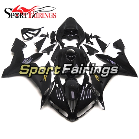 Fairing Kit Fit For Yamaha YZF R1 2004 - 2006 - Gloss Black with Gold Decals