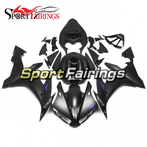 Fairing Kit Fit For Yamaha YZF R1 2004 - 2006 - Matte Black with Blue Decals