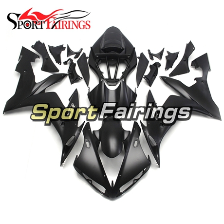 Fairing Kit Fit For Yamaha YZF R1 2004 - 2006 - Matte Black with Grey Decals