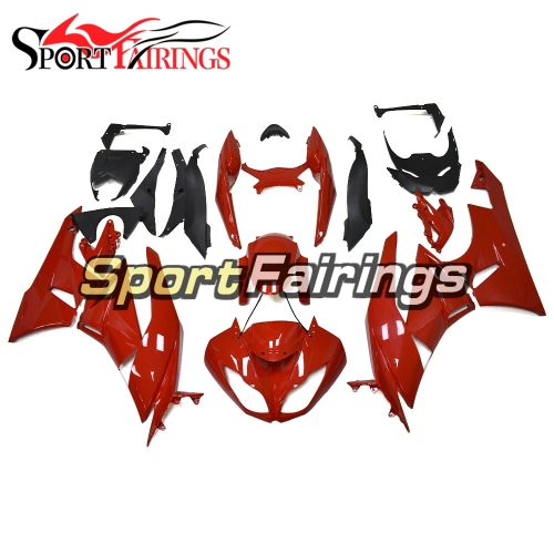 Full Fairing Kit Fit For Kawasaki ZX-6R 2009 - 2010 - Glossy Pure Red