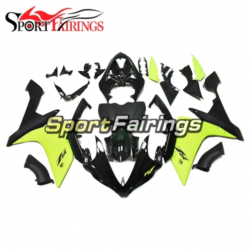 Fairing Kit Fit For Yamaha YZF R1 2007 2008 - Neon Yellow Black