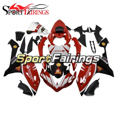 Fairing Kit Fit For Yamaha YZF R1 2007 2008 - Santander Red Black