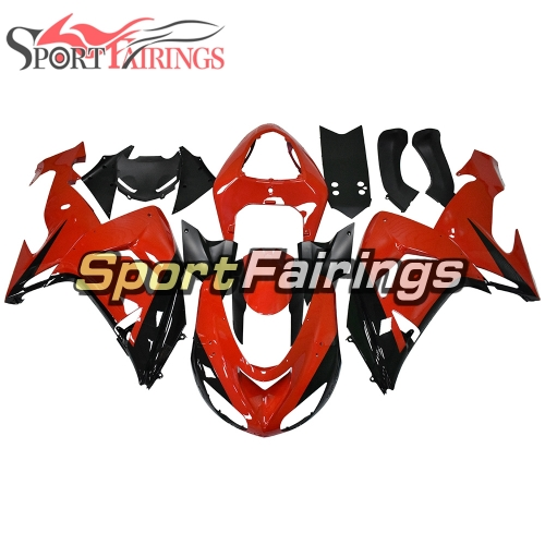 Motorcycle Fairing Kit Fit For Kawasaki ZX10R 2006 - 2007 - Gloss Red Black