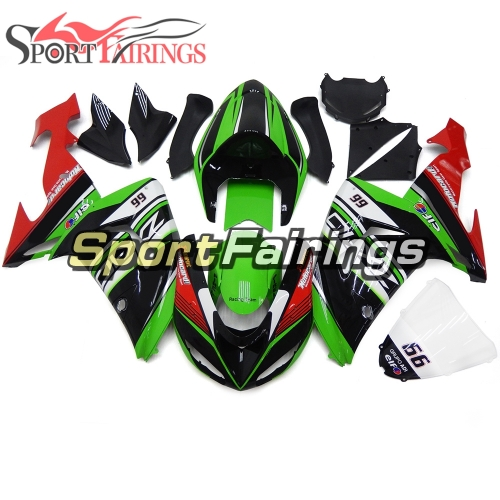 Fairing Kit Fit For Kawasaki ZX10R 2006 - 2007 - Green Black Red
