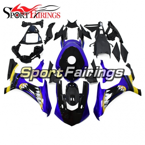 Fairing Kit Fit For Yamaha YZF R1 2015 2016 -Shark Attack Blue Black