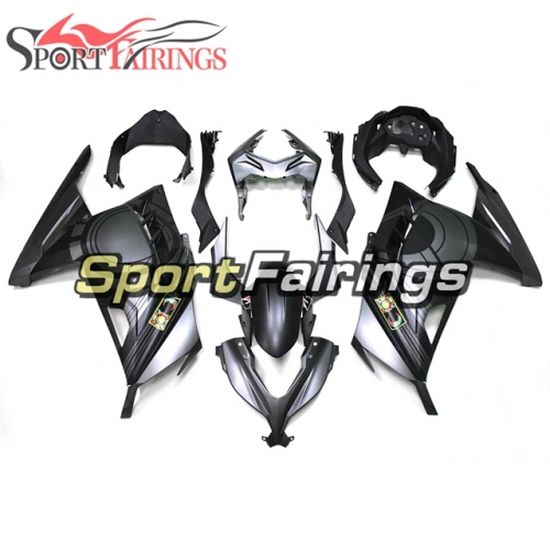 Full Fairing Kit Fit For Kawasaki EX300R Ninja 300 2013 2014 2015 - Matte Black Gray