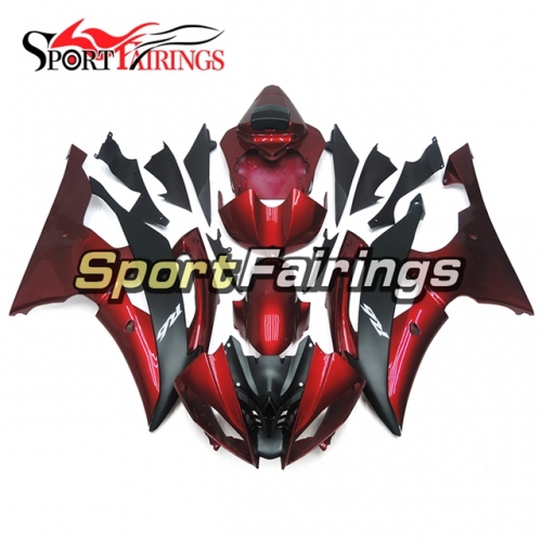 Fairing Kit Fit For Yamaha YZF R6 2008 - 2016 - Deep Red Black