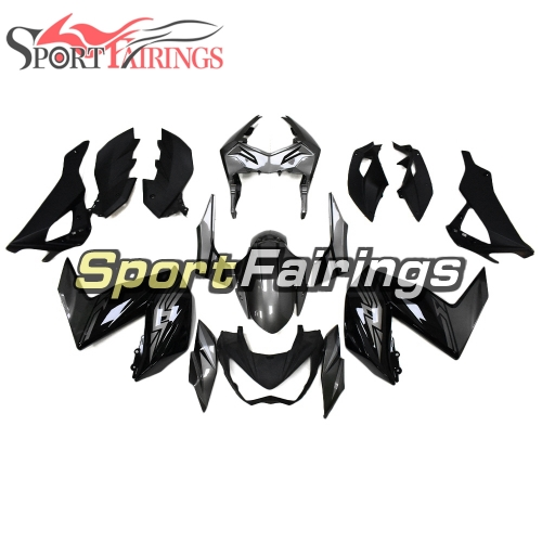 Full Fairing Kit Fit For Kawasaki Z250 / Z3 2014 - 2016 - Glossy Black Gray