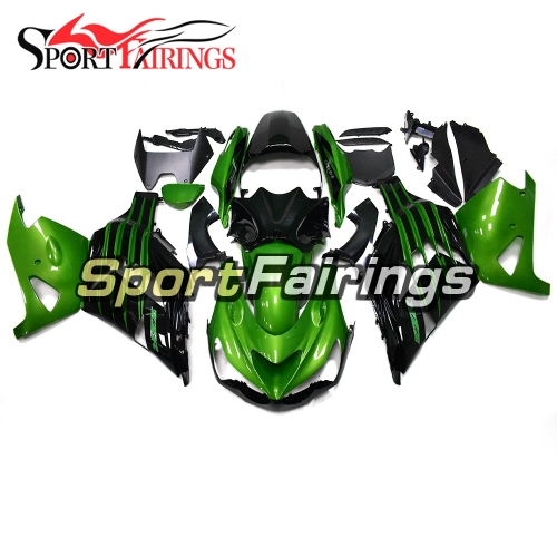 Full Fairing Kit Fit For Kawasaki ZX-14R /ZZ-R1400 2012 - 2019  - Glossy Green Black