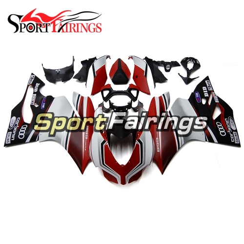 Sportbike Fairing Kit Fit For Dacati 899/1199 2012 - 2013 - Gloss Black Red