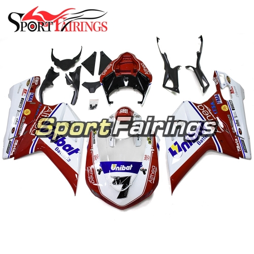 Motorcycle Fairing Kit Fit For Dacati 899/1199 2012 - 2013 - 7 White Red Blue