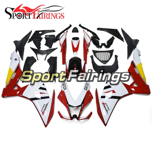 Complete Fairing Kit Fit For Aprilia RSV4 1000 2010 - 2015 - White Red Yellow