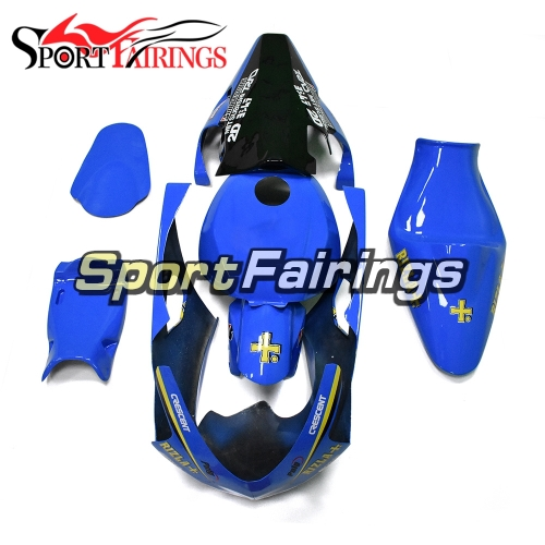 Racing Fiberglass Fairing Kit Fit For Suzuki GSXR600 750 2004 - 2005 - Blue Black