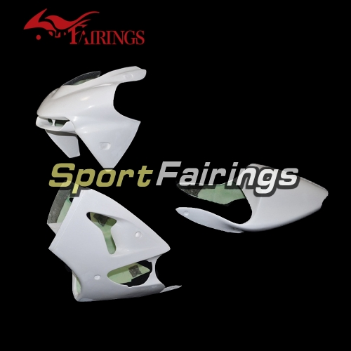 Unpainted Fiberglass Racing Fairing Kit Fit For Kawasaki ZX-6R 636 2000-2002 - Naked Cowlings