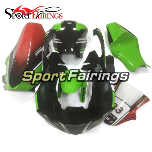 New Fiberglass Racing Fairings Kit Fit For Kawasaki ZX10R 2011 - 2015 - Glossy Green Black Red elf