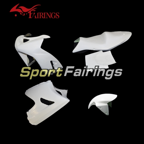 Unpainted Fiberglass Racing Fairing Kit Fit For Kawasaki ZX6R 636 2003-2004 - Naked Bodywork