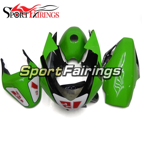 Fiberglass Racing Fairings Kit Fit For Kawasaki EX250R / Ninja 250 2008-2012 - Glossy Green Black 21