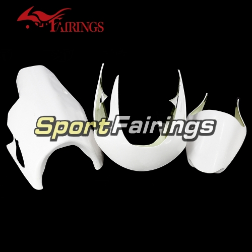 Unpainted Fiberglass Racing Fairing Kit Fit For Kawasaki ZX-6R 636 1998-1999 - Naked Bodywork