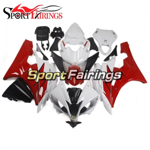 Fairing Kit Fit For Yamaha YZF R6 2006 2007 -White and Red