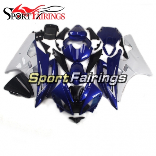 Fairing Kit Fit For Yamaha YZF R6 2006 2007 -White and Blue