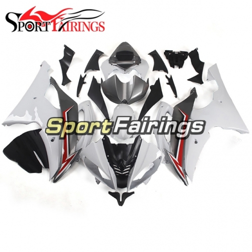 Fairing Kit Fit For Yamaha YZF R6 2008 - 2016 - Grey White