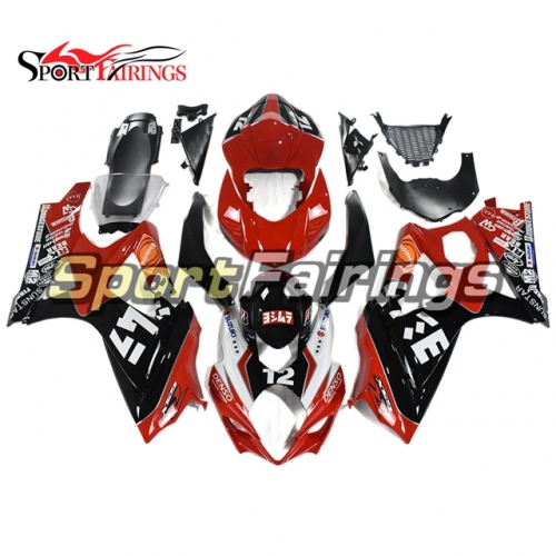 Fairing Kit Fit For Suzuki GSXR1000 K7 2007 - 2008 - Black Red