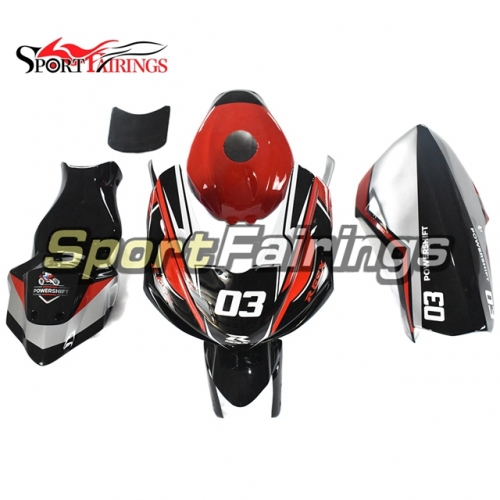 Racing Fiberglass Fairing Kit Fit For Suzuki GSXR600 750 K11 2011 - 2016 - Black Red