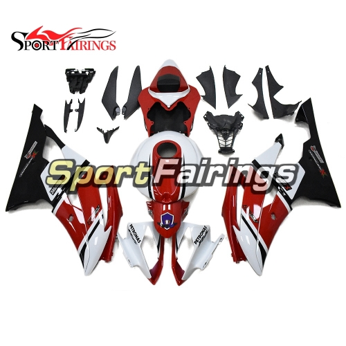 Fairing Kit Fit For Yamaha YZF R6 2008 - 2016 - White Red and Black Lowers