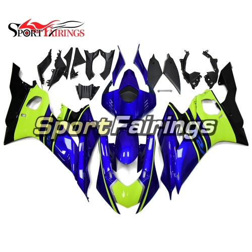 Fairing Kit Fit For Yamaha YZF R6 2017 - Blue and Neon Yellow