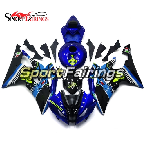 Fairing Kit Fit For Yamaha YZF R6 2008 - 2016 - Shark Attack Blue and Black
