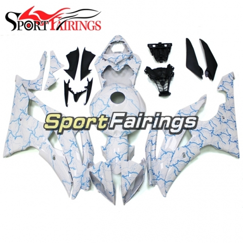 Fairing Kit Fit For Yamaha YZF R6 2008 - 2016 - Blue and White