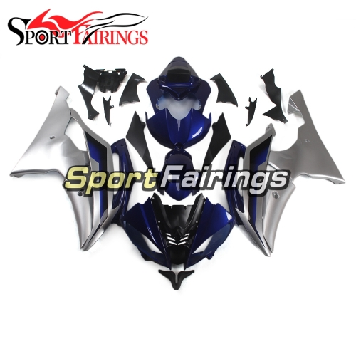 Fairing Kit Fit For Yamaha YZF R6 2008 - 2016 - Blue Silver