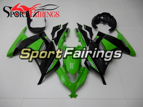Motorbike Full Fairing Kit Fit For Kawasaki EX300R Ninja 300 2013 2014 2015 - Green Black