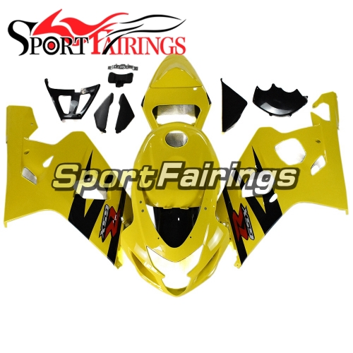 Racing Fairing Kit Fit For Suzuki GSXR600 750 2004 - 2005 - Yellow