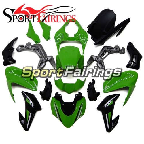 Motorcycle Fairing Kit Fit For Kawasaki Z900 2017 - 2018 - Gloss Green Black Grey