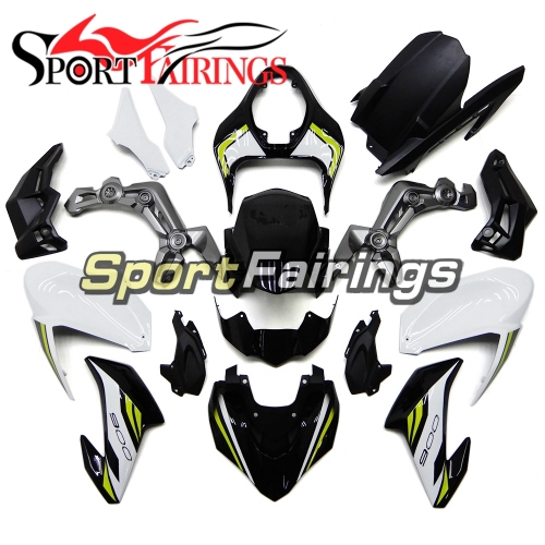 Motorcycle Fairing Kit Fit For Kawasaki Z900 2017 - 2018 - Gloss Black White Neon Yellow