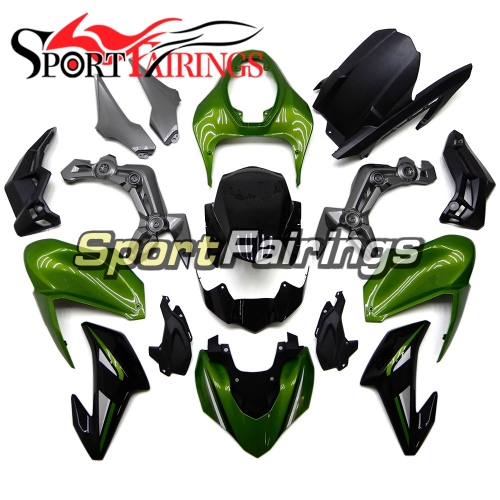 Motorcycle Fairing Kit Fit For Kawasaki Z900 2017 - 2018 - Green Black Grey