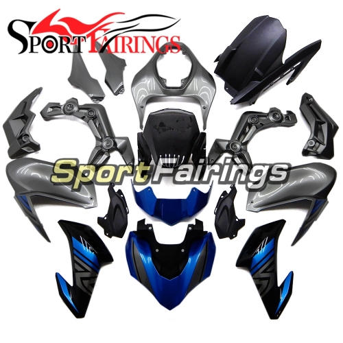 Complete Fairing Kit Fit For Kawasaki Z900 2017 - 2018 - Grey Blue Black