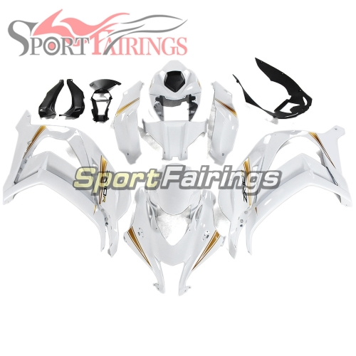 Complete Fairing Kit Fit For Kawasaki ZX10R 2016 - 2019 - Bright White Gold