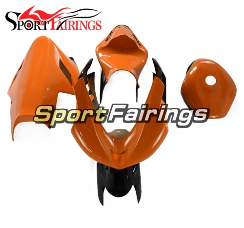 Fiberglass Racing Fairings Kit Fit For Kawasaki ZX-6R 636 2007 - 2008- Glossy Orange Black
