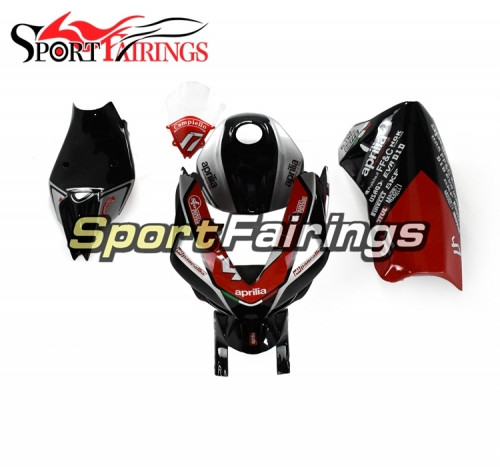 Firberglass Racing Full Fairings Fit For Aprilia RSV4 1000 2010 - 2015 - Gloss Black Red Silver